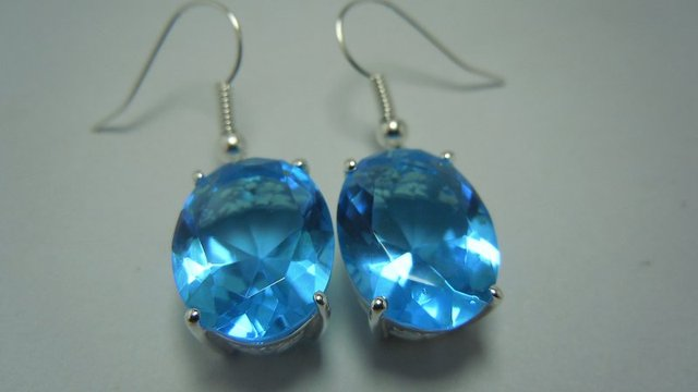 Transporte gratuito do mundo mais vendidos jóias/processamento personalizado moda 100% quando o azul oval 925 brincos de prata