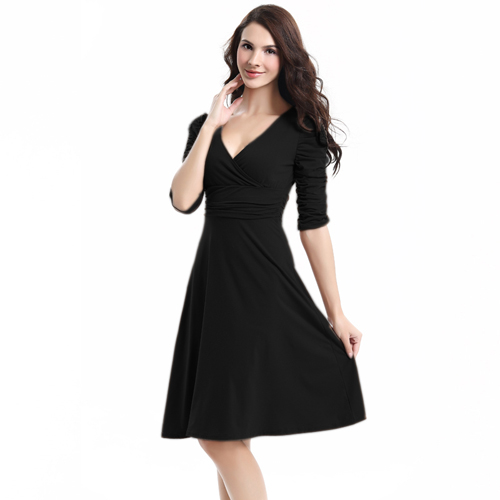 0a596a07cf495 US $12.57 5% OFF AAMIKAST Women Dresses New Fashion 2018 Summer Celeb V  neck Half Sleeve Maxi Party Dresses Size S M L XL XXL XXXL Wholesale-in ...
