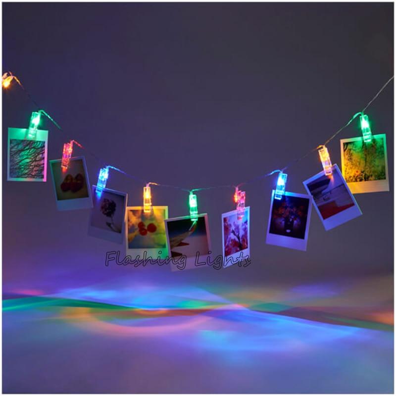 220V / 110V 3M 20LED penn fe lyser Kort Bilder Bilder Klipp Bright - Festlig belysning - Foto 5