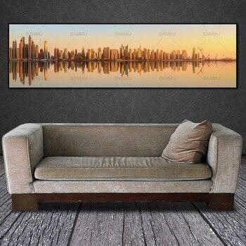 جدار الفن اللوحة مجردة مدينة ليلة اللوحة الصورة جدار الصورة قماش رسم مطبوع postersart ديكور المنزل قماش الفن لا الإطار