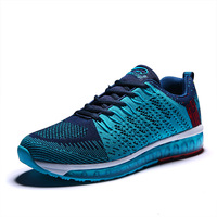 Feetalk Mens Trainers Shoes Black/Blue Shoes Men Sport Lightweight Trail Running Shoes Men Summer/Autumn Men Designer Sneakers