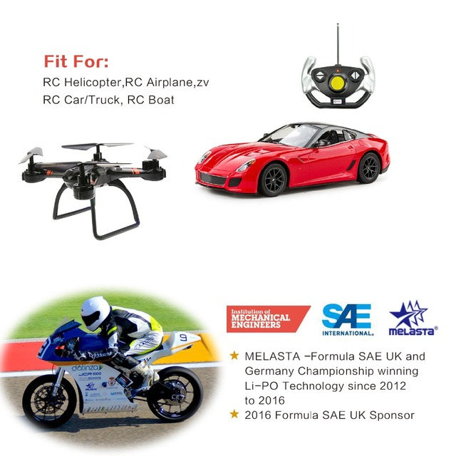 Melasta LiPo Battery Pack 1500mAh 50C 4S 14.8V with XT60 Plug for RC Boat Heli Airplane UAV Drone FPV