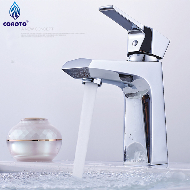 Modern Bathroom Faucet Deluxe Solid Stainless Steel Casting Lead Free  Bathroom Basin Vessel Sink Mixer