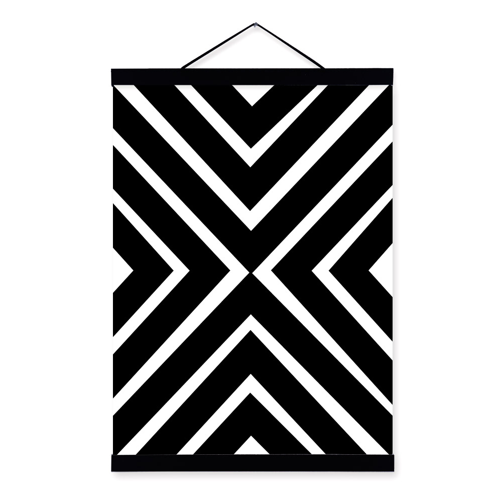 Geometric Shapes Art Black And White