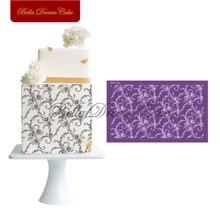 Flower Leaf Mesh Stencils Lace Design Cake Stencil Fondant Wedding Cake Mold Fabric Cake Mould Cake Decorating Tool Bakeware