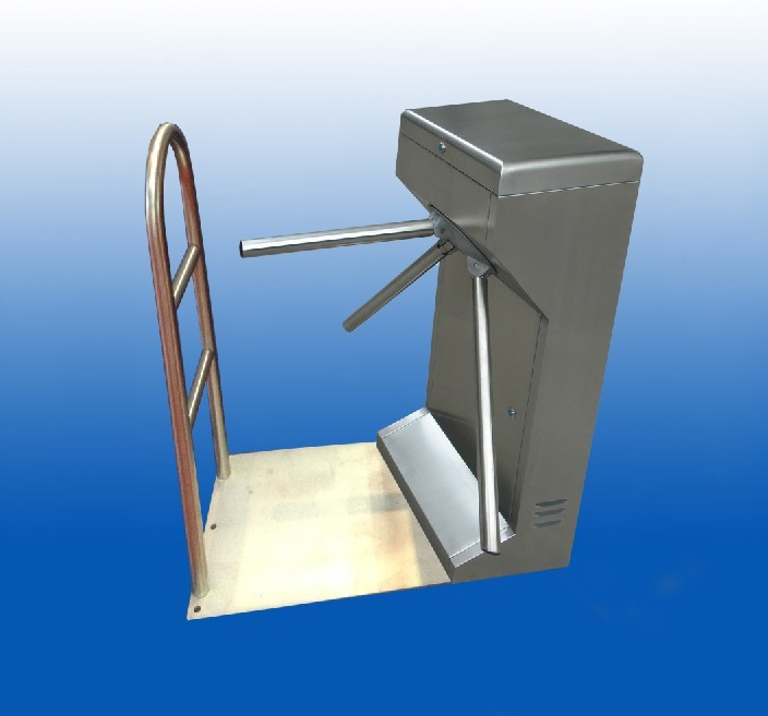Supermarket Portable Mechanical Tripod Turnstile Gate for access control mechanism push turnstile gate
