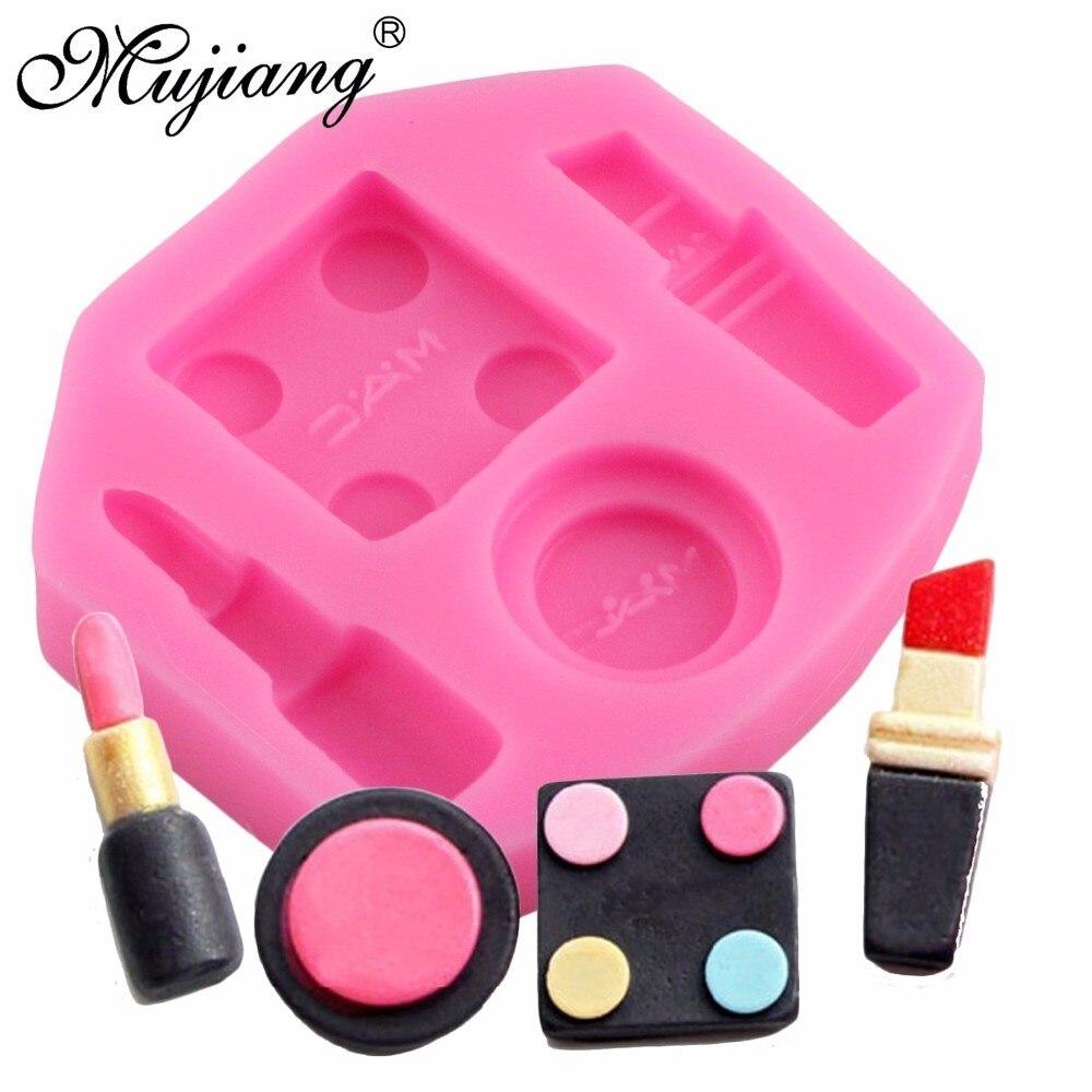 Mujiang, инструменты для макияжа, губная помада силиконовые формы для полимерной глины шоколадные конфеты формы 3D ремесло для кексов, помадки и...