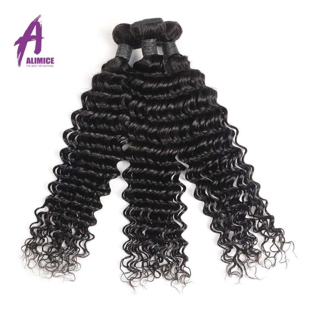 Alimice perujski snopi las globoko valovanje človeških las 100% - Človeški lasje (za črne) - Fotografija 6