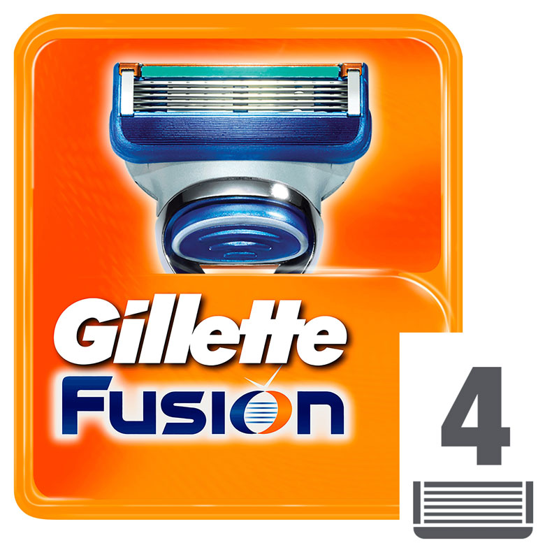 Removable Razor Blades for Men Gillette Fusion Blade for Shaving 4 Replaceable Cassettes Shaving Fusion shaving cartridge Fusion