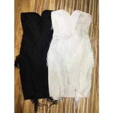 Strapless Tassel Bandage Sleeveless Dresses