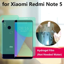 Soft HD ANti-Scratch Finger 4D Full Body Cover Screen Protector for Xiaomi Redmi Note 5 Pro AUTO Fixed Hydrogel Film цена и фото