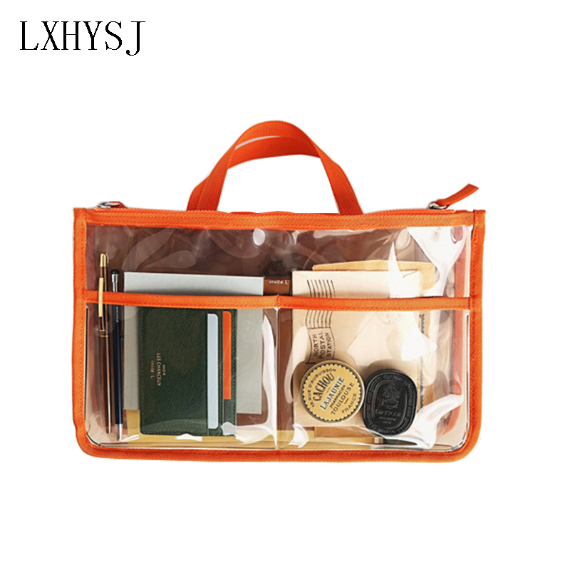 Casual transparent cosmetic bag PVC waterproof makeupbag travel agency shower storage ba ...