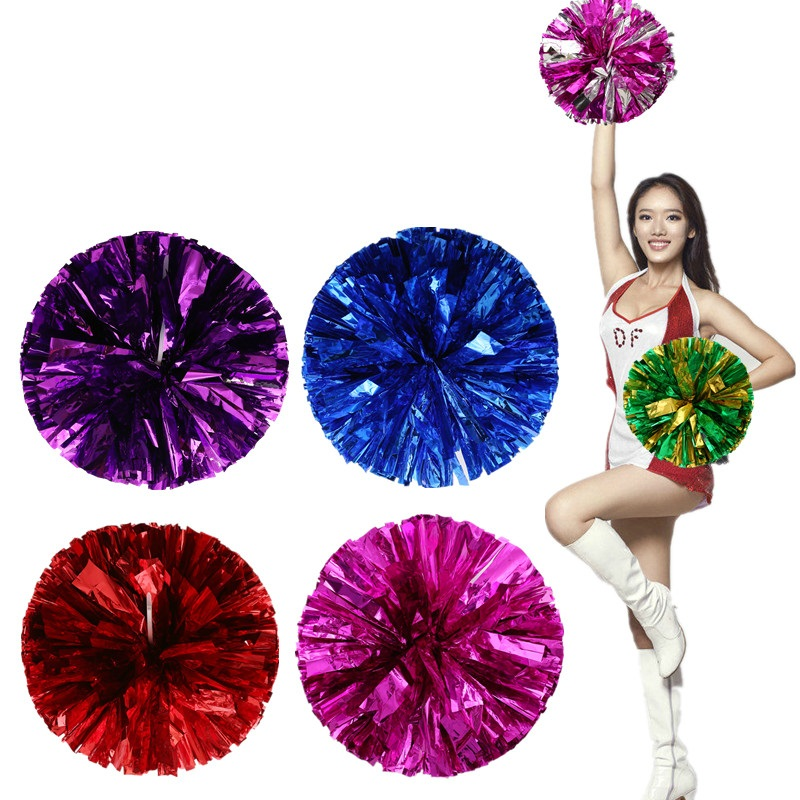 Cheerleaders lule dore Cheerleading Pom Poms Aerobics Show Dance Lule dore Cheerleader Pompoms për Basketboll Futboll 60g