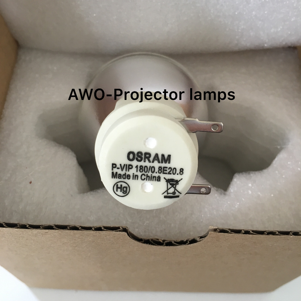 New Bare Bulb Lamp Osram P-VIP 180/0.8 E20.8 For ACER BenQ Optoma  VIEWSONIC Projectors