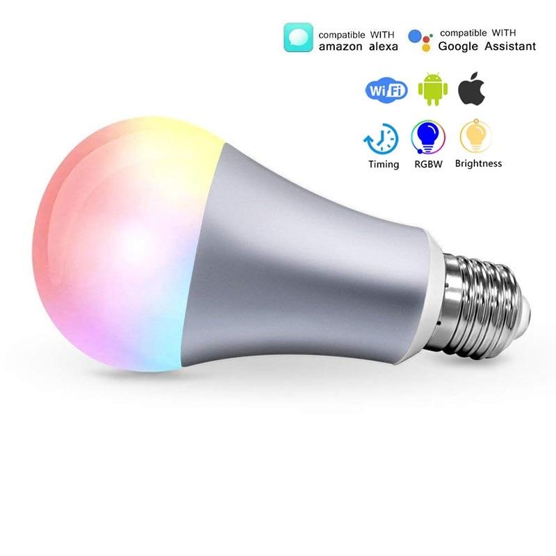 E27 LED Wifi Smart Light Bulb 7W 220V Led Lamp E14 B22 RGBW Wifi APP Remote Control Google Home Amazon Alexa Light BB SPEAKER