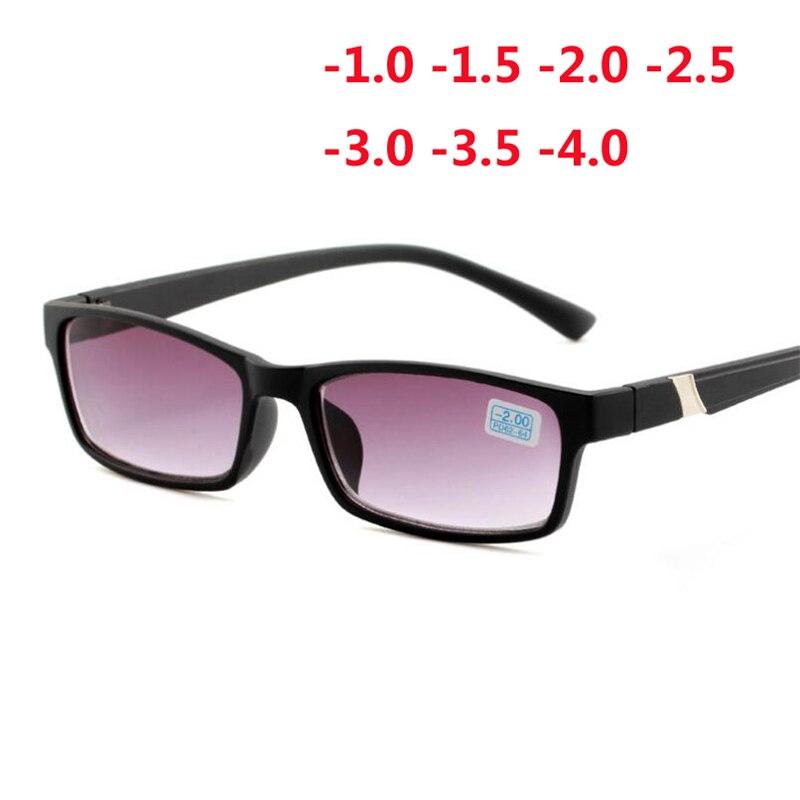 Fertig Myopie Sonnenbrille Für Unisex Anti-Blu-ray Student Dioptrien Myopie Gläser Frauen Männer-1,0-1,5 -2,0-2,5-3,0-3,5-4,0
