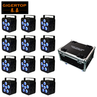 DMX WIFI Par Led 6x18w RGBWA UV 6in1 IP65 Battery Powered Stage Par Light Powercon Black LED Par Lumiere DJ Lamp