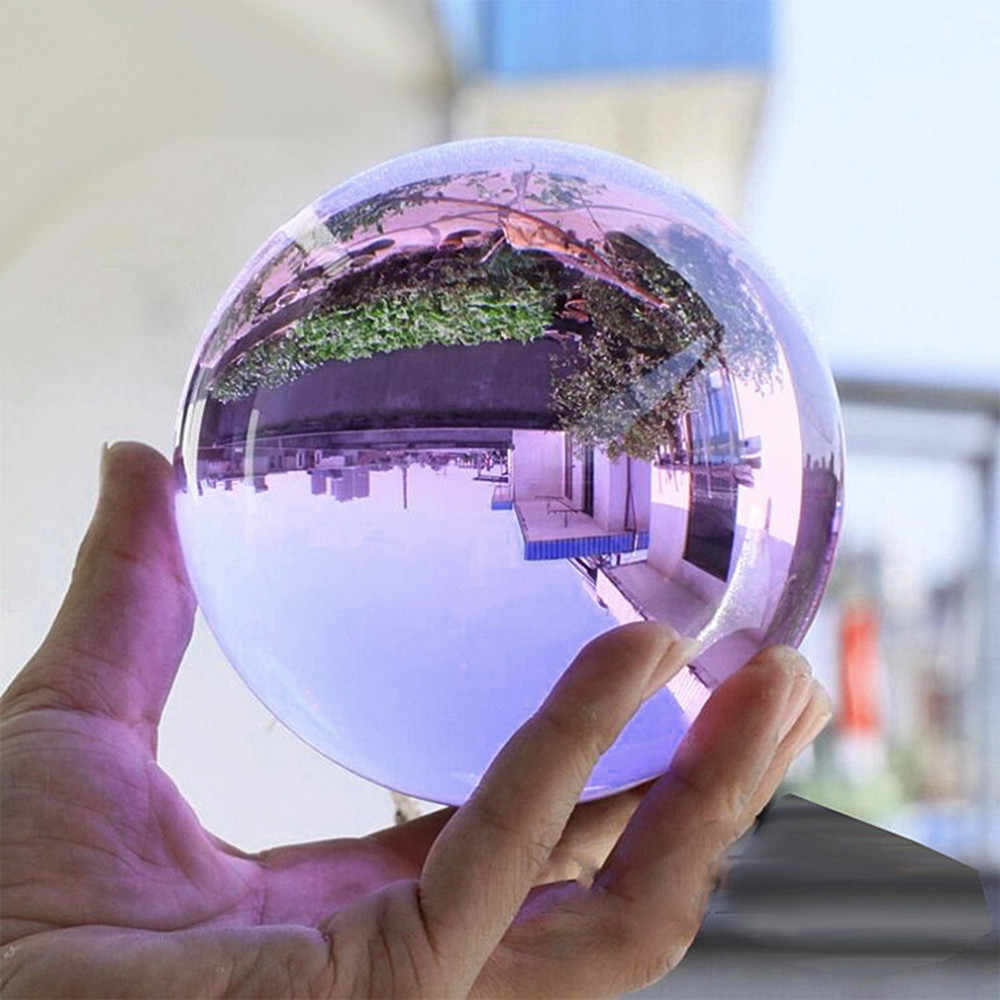 High Quality 50mm Asian Rare Quartz Crystal Purple Glass Home Decoration Obsidian Ball Natural Feng shui Magic Healing Crafts