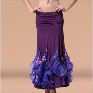 Image 2 - HOT SALE! new crystal cotton belly dance skirt for women belly dance crimping skirts  belly dance competition clothes