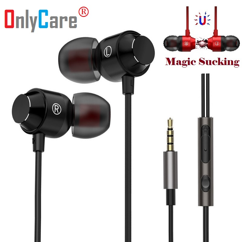 Magnetic Metal Heavy Bass Music Earphone for HCL ME AE1V2412 X Laptops NoteBooks Headset Earbuds Mic Fone De Ouvido