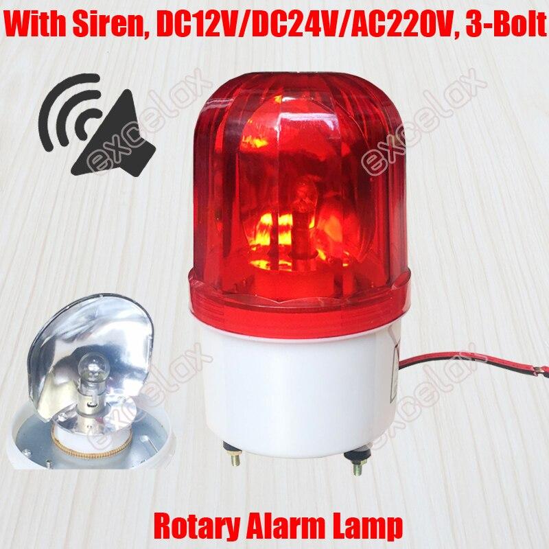 US $12 99 |Bulb Flashlight Revolving Reflection Rotary Strobe Siren Sound  Beacon Emergency Warning Alarm Signal Lamp for Guard Post Traffic-in Alarm