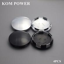 KOM 4pcs 64.5mm blank trim hub cap for voiture wheel centre tapa auto rim cover clip 60mm no logo emblem chrome abs KP64560H