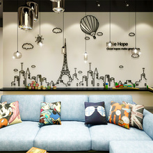Nordic Tower Acrylic 3D Stereo Wall Sticker Home Decor Decals Living Room DIY Wall Sticker Bedroom Stickers Hot Sale Wallpaper hot sale welcome sweet home wall sticker for living room