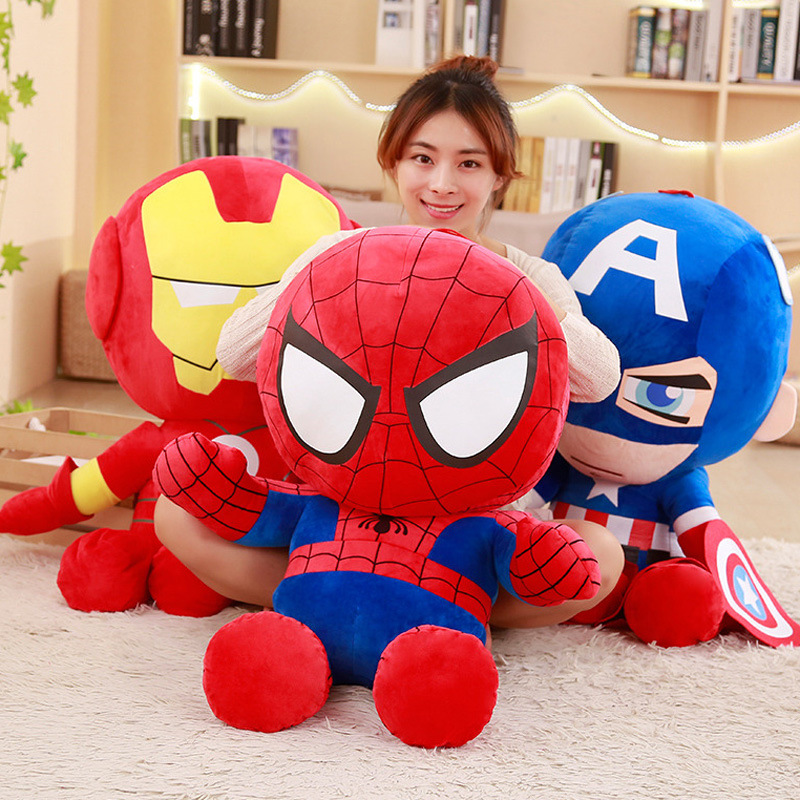 Dolls Plush-Toys Spiderman 35cm Avengers Soft Birthday-Gift Stuffed Kids for 1pc Movie