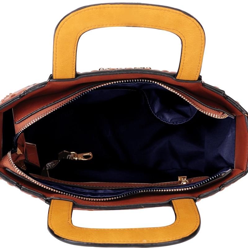 Femme Art Dessinée Cuir Emballages Femmes Braccialini Style Chat Artisanat Bande M Broderie En Sacs Main De À Bandoulière Bag Messenger Fille P5af5nU