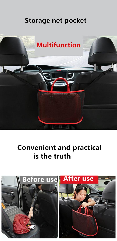 Car Seat Gap Storage Net Bag for Holding Bag Purse