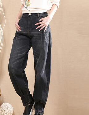 Harem pants for font b women b font denim font b jeans b font casual plus
