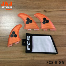 FCS brand new surfboard FCS II M size fins made of fiberglass honey comb (Tri-set) surfing thruster with bag
