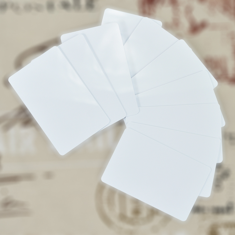 Free Shipping 50PCs/lot PVC Contactless Smart RFID IC Card M1 S50 13.56Mhz Access Control Cards Readable Writable free shipping 200pcs mf1k s50 fudan 13 56mhz ic card