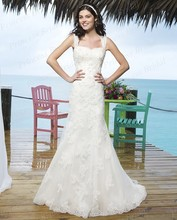 Free Shipping Fabulous Style Trumpet Sweetheart Sweep Train Hot Sale Indian Bridal Wedding Dress With Appliques SW3803
