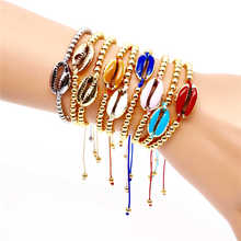 Go2boho 2019 Shell Bracelet Women Summer Beach Jewelry Natural Pulseras Bohemian Japan Gold Plate Plastic Beads