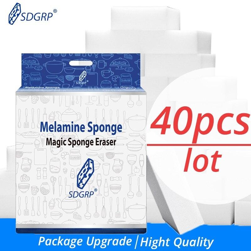 100/40/20/10 piezas de melamina esponja Borrador de esponja mágico limpiador de melamina para Cocina Oficina Baño Nano limpieza Spoonge 10x6x2cm