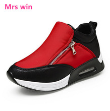 women running shoes coutdoor sport shoes zipper Mesh breathable and comfortable anti-skid air cushion women sneakers  zapatillas
