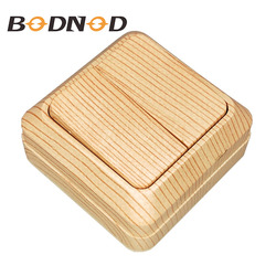 Light Switch Two Gang Switch Wood Color European Light Beech Color Inset Wall Switch DIY 10A 250V Legrand Schneider Livolo