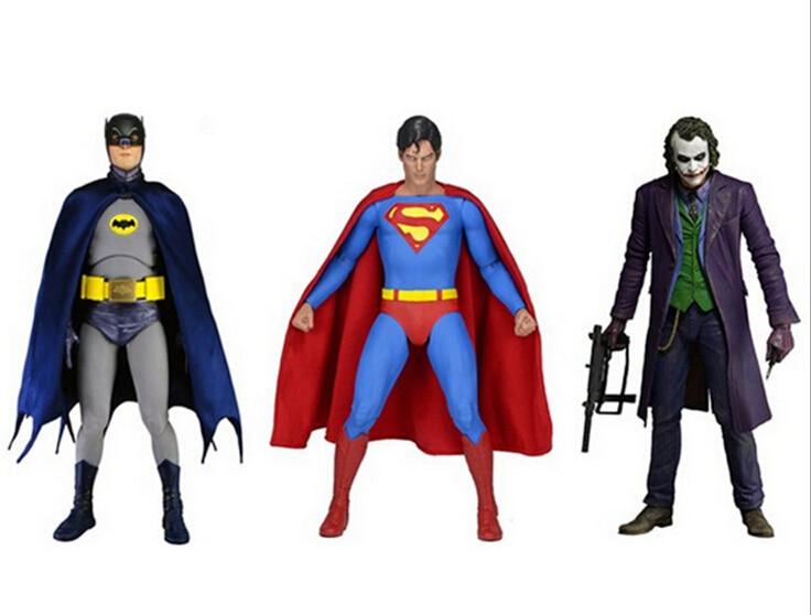 NECA DC Comics Batman Superman The Joker PVC Action Figure Collectible Toy 7 18cm 3 Styles dc comics designer series dc collectibles batman the joker by greg capullo pvc action figure model toy 16cm