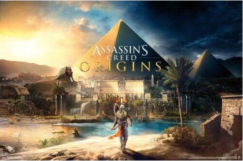 ASSASSINS CREED - ORIGINS VIDEO GAME SILK POSTER Decorative Wall paint 24x36inch image
