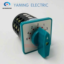 цена на Yaming electric Green 5A 380V rotary cam switch 7 position 3 poles Motor main universal changeover switch LW6-3