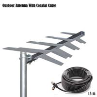 Outdoor Antenna With Coaxial Cable For DVBT2 HDTV ISDBT ATSC High Gain Strong Signal Outdoor TV Antenna