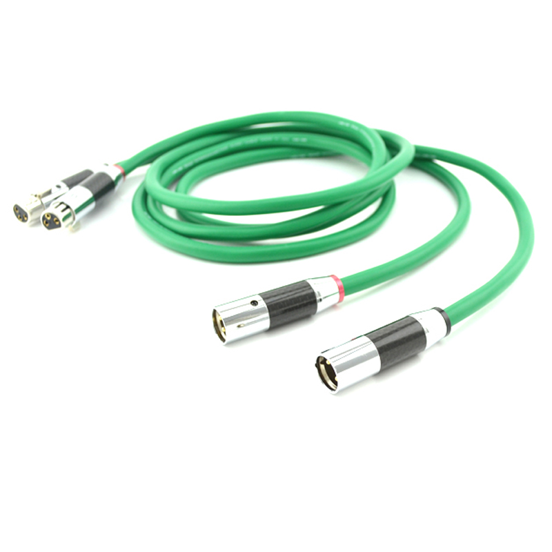 <font><b>MCINTOSH</b></font> <font><b>2328</b></font> intercinnect cable with carbon fiber silver plated connector plug image