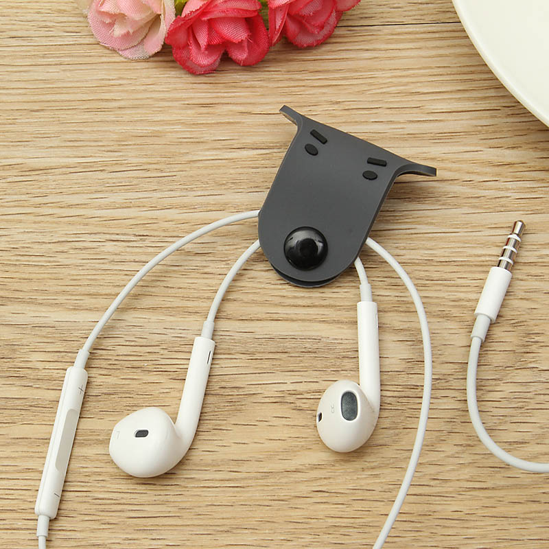 cute wire cord cables winder organizer earphone headphone stud snap hub clip doggie cord organizer for mp3 smartphone cables