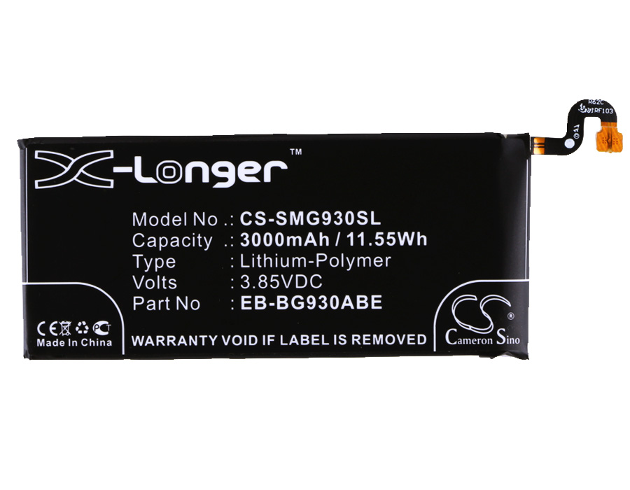Cameron Sino 3000 mAh Batterie EB-BG930ABA, EB-BG930ABE für Samsung Galaxy S7, G9308, G930A, G930F, G930P, G930R4, SM-G930T, SM-G930V