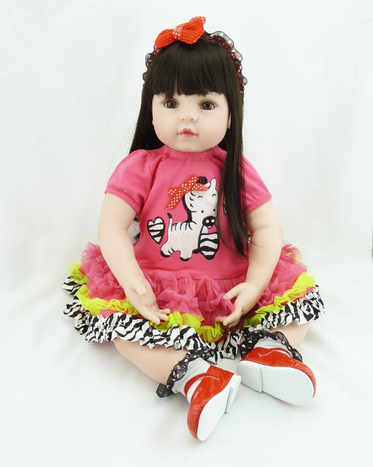 58 cm children silicone doll playmates rebirth gift for girl 24 inches baby alive bouquet. Black Bedroom Furniture Sets. Home Design Ideas