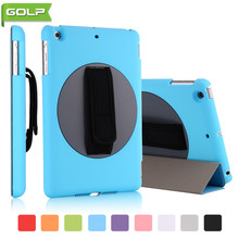 Case for 2017 Released iPad 9.7″, GOLP Smart PU Leather Cover  360 degree Rotating PC tablet Case for 2017 Released iPad 9.7″