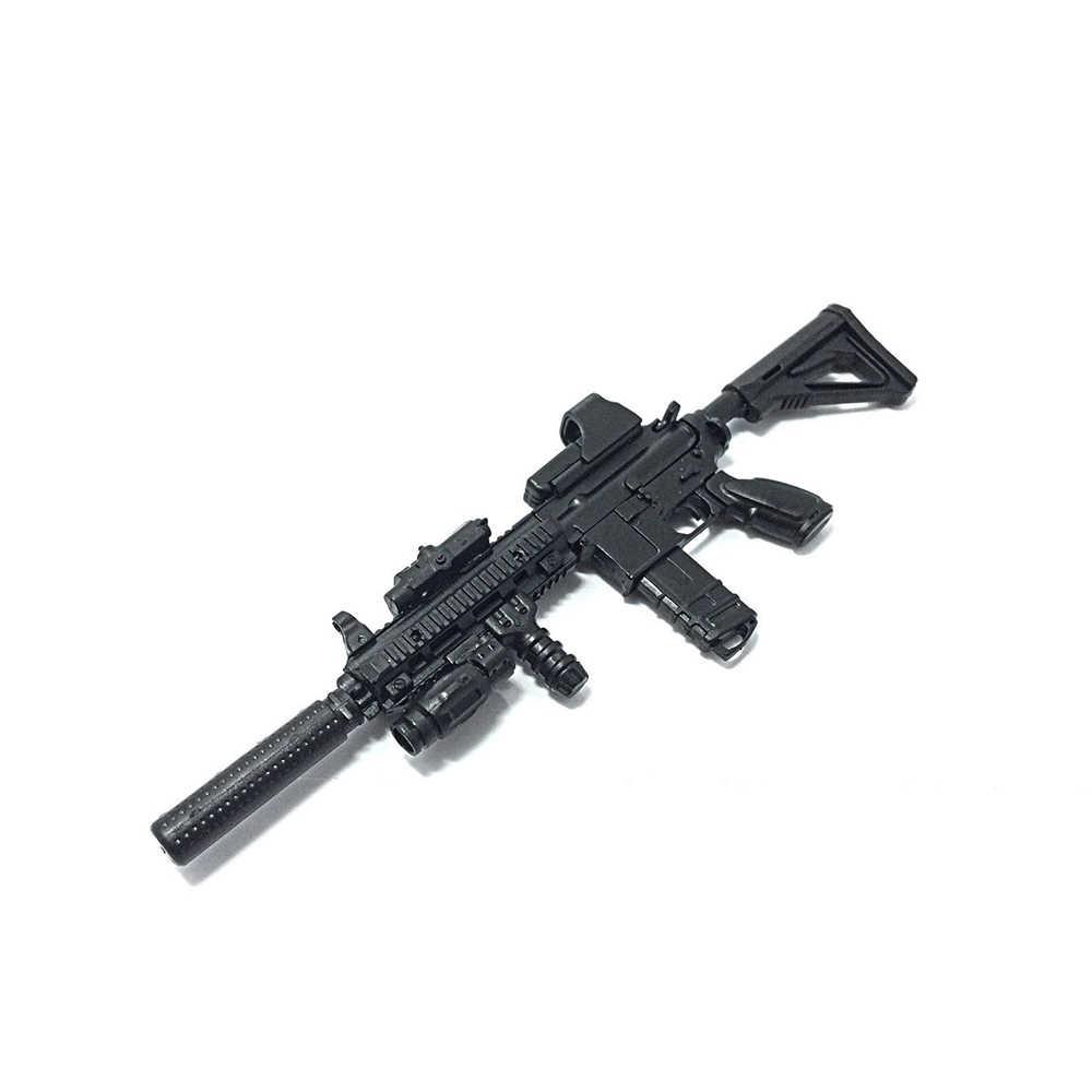 1:6 1/6 Schaal Monteren Actiefiguren Rifle HK416 Model Pistool 1/100 Soldaat Onderdelen En Componenten Kan Gebruiken Voor Bandai Gundam model Speelgoed