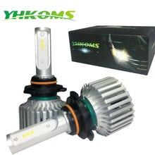 YHKOMS Universal H11 9005 9006 LED H8 H9 HB3 HB4 H7 LED Car Headlights Bulb 80W 8000LM 6000K Auto Headlamp CSP Canbus LED Lamp set car fog light led headlights h7 80w 5600lm automobiles headlamp h8 h9 h11 hb3 9005 hb4 9006 h10 bulb auto front bulb