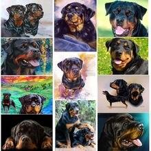 5d Алмазная мозаика, Ротвейлер, собака, 3d Алмазная живопись, вышивка крестиком, милый питомец, алмазная вышивка, семейное украшение